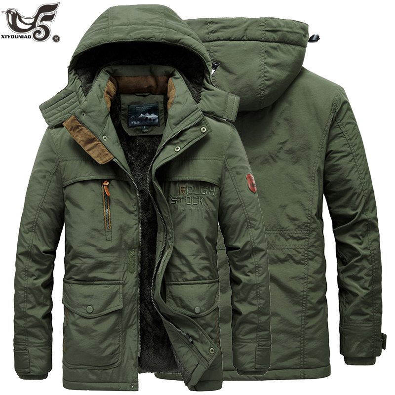 New Fur Collar Hooded Men Winter Jacket Warm Wool Liner Man Jackets And Coats Outwear Snow Windbreaker Male Parka Overcoats