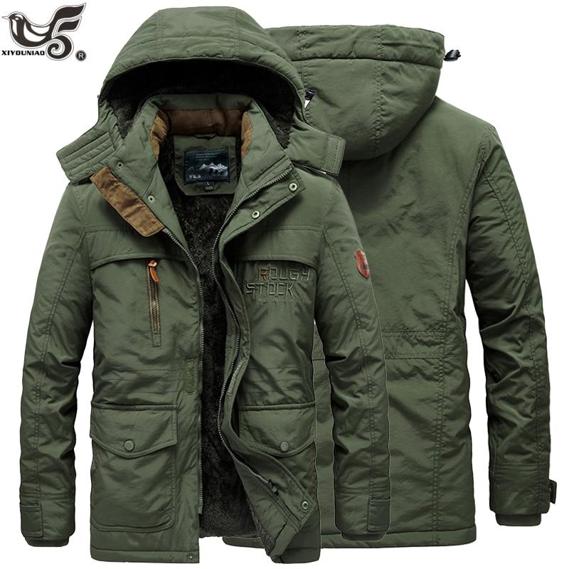 New Fur Collar Hooded Men Winter Jacket Warm Wool Liner Man Jackets And Coats Outwear Snow Windbreaker Male Parka Overcoats