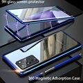 Магнитный чехол для Samsung Galaxy S20 S10 S21 S8 S9 Note 20 Ultra Plus Lite Note 9 A71 s20 fe, чехлы для телефонов, стеклянный металлический чехол