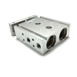 Image 2 - CXSM25 10,15,20,25 FSQD SMC Tipo di componente pneumatico A Doppio Stelo Cilindro di Base di aria strumenti di serie CXSM