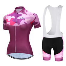 2019 new Women Summer MTB Bike Cycling Clothing Breathable Mountain Bicycle Clothes  Quick-Dry Team Jersey Sets