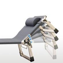 Lettino pieghevole portatile per il tempo libero lettino regolabile letti singoli pigri struttura in acciaio resistente mobili camera da letto muebles