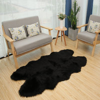 ROWNFURS Faux Fur Sheepskin Area Rug For Living Room Kid Bedroom Bath Mat Chair Cover Fluffy Soft Artificial Sheepskin Carpet
