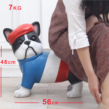 Animal Schnauzer Bulldog Stools & Ottomans Living Room Furniture Piggy Bank Creative Shoes Cabinet Low Stool Home Furniture modern garden toy stools living room changing shoes chairs furniture plastic stool free shipping