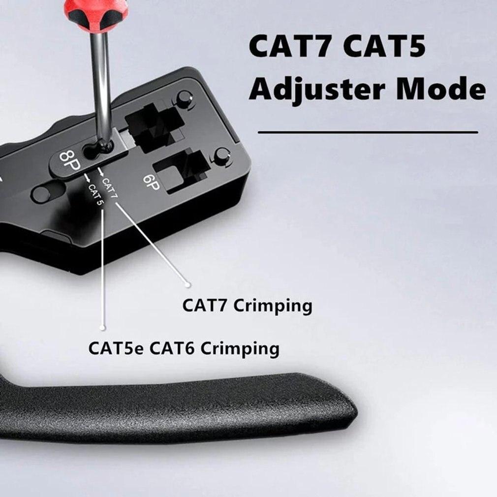 [Cat5 Cat6 Cat7 Pass Through Crimper] for RJ45 RJ12 RJ11 Network Connectors Modular Plugs Ethernet Cables EZ Crimp Tool 5