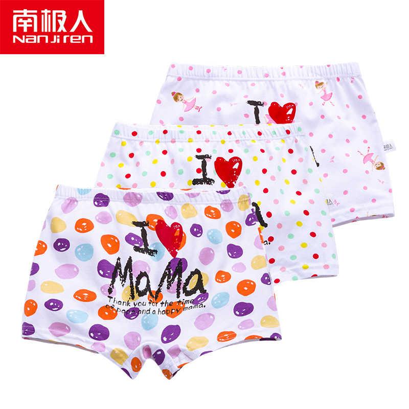 NANJIREN ملابس داخليّة حريمي 3 قطعة أطفال رسوم متحركة للأطفال سراويل تحتية للأطفال بنات طباعة لون مراهق ملابس تحتية 4-16T