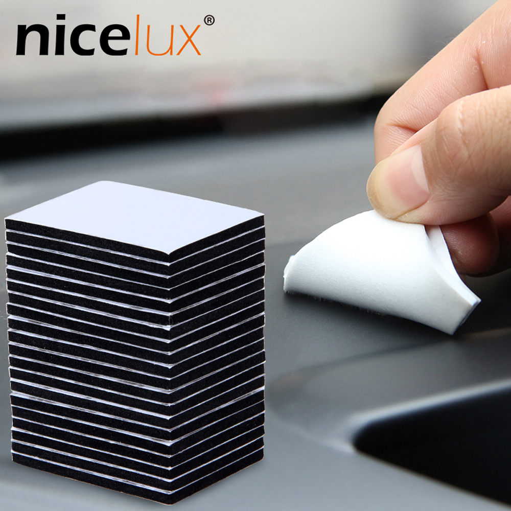 10pcs Various Sizes 3M White Black Double Sided Tape EVA Foam Pad Stable Performance Super Sticky High Temperature Resistance
