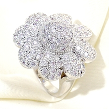 Wedding Party Fashion Plant Flower Pave Cubic Zirconia Rings for Women Dubai Jewelry Gift Dropshipping fantasy flower cute fairy rings elf angel cubic zirconia wings gold plating two toned women wedding ring gift jewelry d20