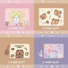 Storage-Bag Driver Slot Credit-Card-Bag Slot-Certificate Musubo Icense Girls 4-Card Women