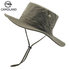 Boonie Hat Fishing-Hats Uv-Protection Beach-Caps Sun-Bucket Wide-Brim Waterproof CAMOLAND