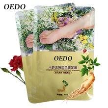 Soins de la peau extrait de Ginseng enlever pied peau morte masque soins des pieds Peeling exfoliant peau chaussettes blanchissant beauté soins des pieds crème