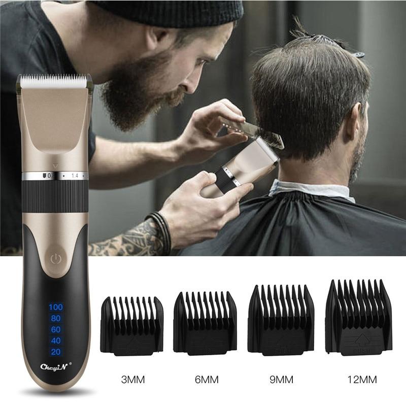 Ckeyin profissional máquina de cortar cabelo barbeador