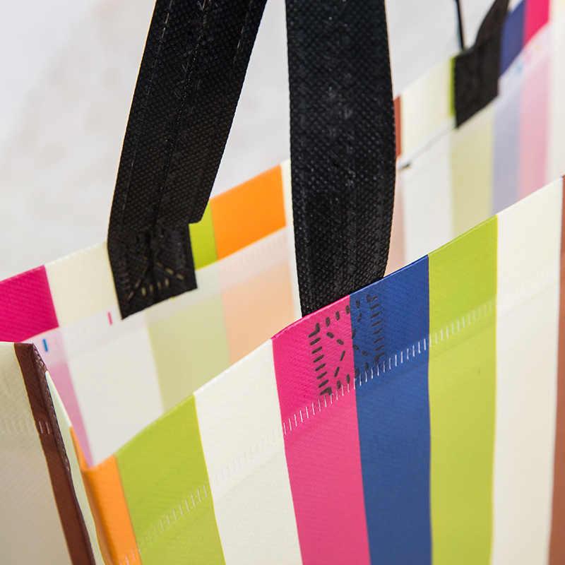Nieuwe Vrouwen Opvouwbare Boodschappentas Herbruikbare Eco Tote Pouch Grote Non-woven Shopper Tassen Canvas Reizen Boodschappentassen Boodschappentassen