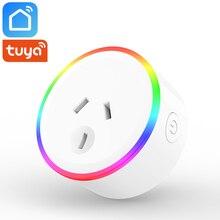 Tuya Smart Life App Wifi Socket AU Australia New Zealand Plug 10A 2400W SAA Certification Works With Alexa Goog Home IFTTT