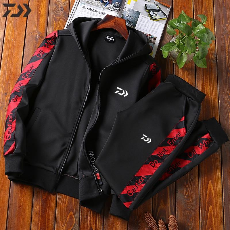 Homem daiwa roupas de pesca esportes ao