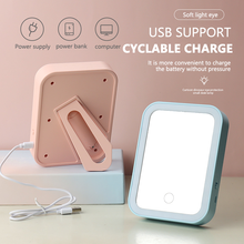 Led Light Makeup Mirror Storage LED Face Vanity Mirror Adjustable Touch Dimmer USB Led Vanity Mirror Table Desk Cosmetic Mirror