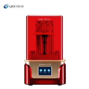 Image 1 - QIDI TECH impresora 3D de resina LCD/SLA, sombra 5.5S, carril de revestimiento de doble eje z, tamaño 120*68*150mm