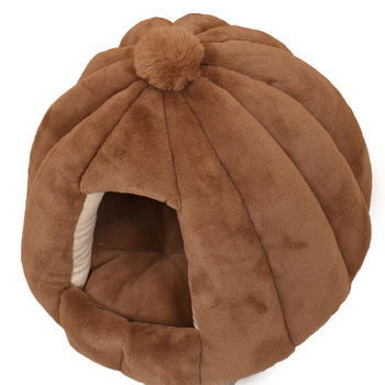 deep sleep roundness kennel semienclosed cattery The rabbit wool autumn and winter Nest mat pet house small and medium size dog