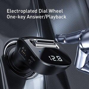Image 4 - Baseus szybka podwójna ładowarka samochodowa USB do iphonea zestaw samochodowy Bluetooth z nadajnikiem FM odtwarzacz MP3 ładowarka do telefonu Samsung Xiaomi