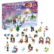 Compatible con Legoinglys amigos Calendario de Adviento amigos bloques de construcción Juguetes DIY para niñas regalos de navidad modelo 41326