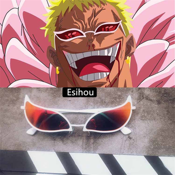 Anime One Piece Glasses Donquixote Doflamingo Same Style Eyewear Sunglasses Funny Fashion Gift - discount item  27% OFF Costumes & Accessories