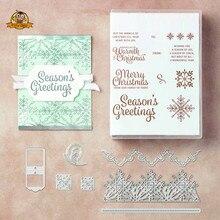 Рождественские штампы снежинки резки металла штампы для прозрачные трафареты для скрапбукинга и штамповки наборы самодельная открытка для ручной работы трафарет штампы