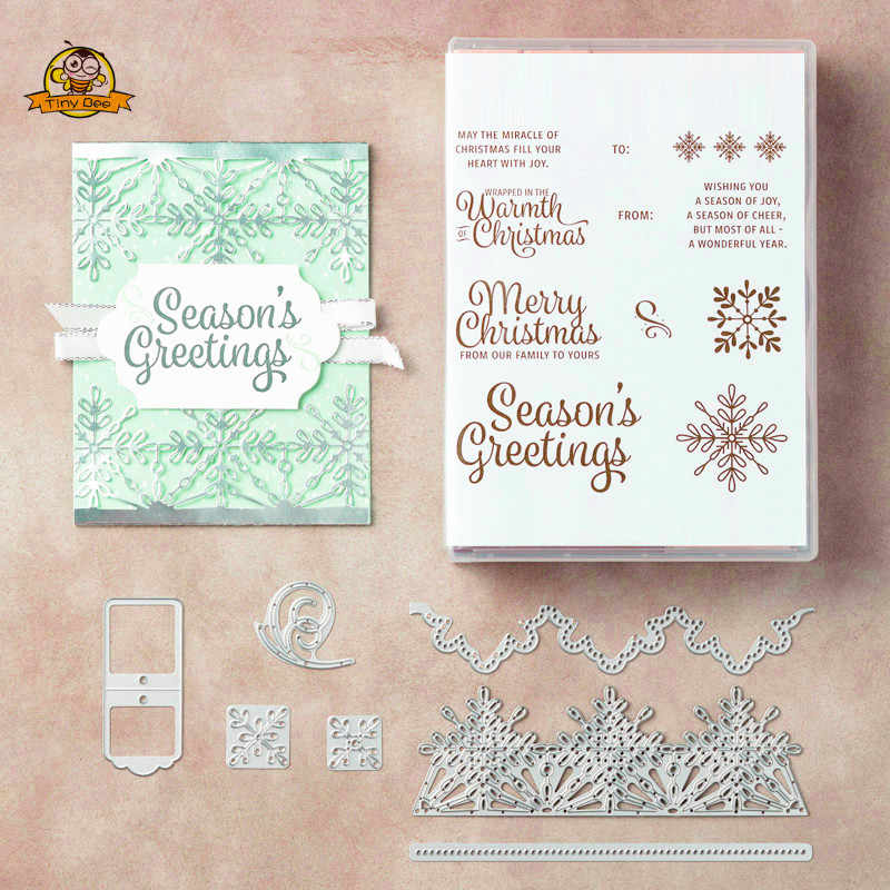 Christmas Snowflake Dies Cut Metal Cutting Dies for Scrapbooking  Clear Stamps and Die Sets DIY Card Making Crafts Stencil Dies