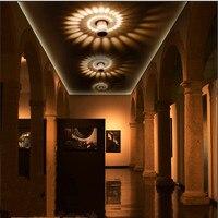 Moderno conduziu a luz de teto 3 w rgb arandela para galeria arte decoração frente varanda lâmpada luz corredores luminária|Luzes de teto| |  -