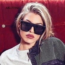 Lunettes de soleil vintage à monture oversize, lunettes de soleil de marque de luxe carrées surdimensionnées noires, grande monture, lunettes de soleil pour femmes