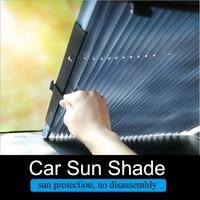 Car Sun Shade Dashboard Window Sunshade Retractable Foldable Windshield Shield Curtain UV Protector Auto Sun Shade Block Anti-UV