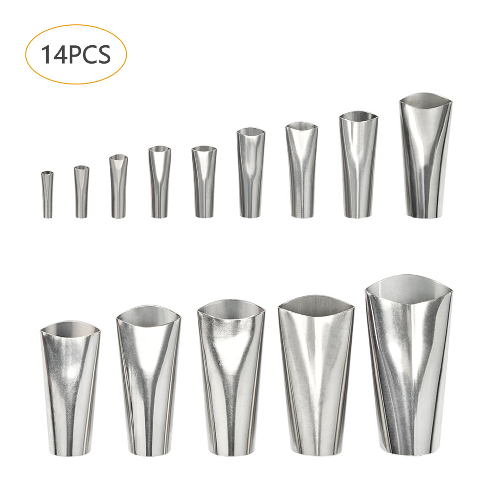 14Pcs Caulking Finisher Caulk Nozzle Applicator Stainless Steel Sealant Finishing Tool Kit Kitchen Bathroom Window Sink Join