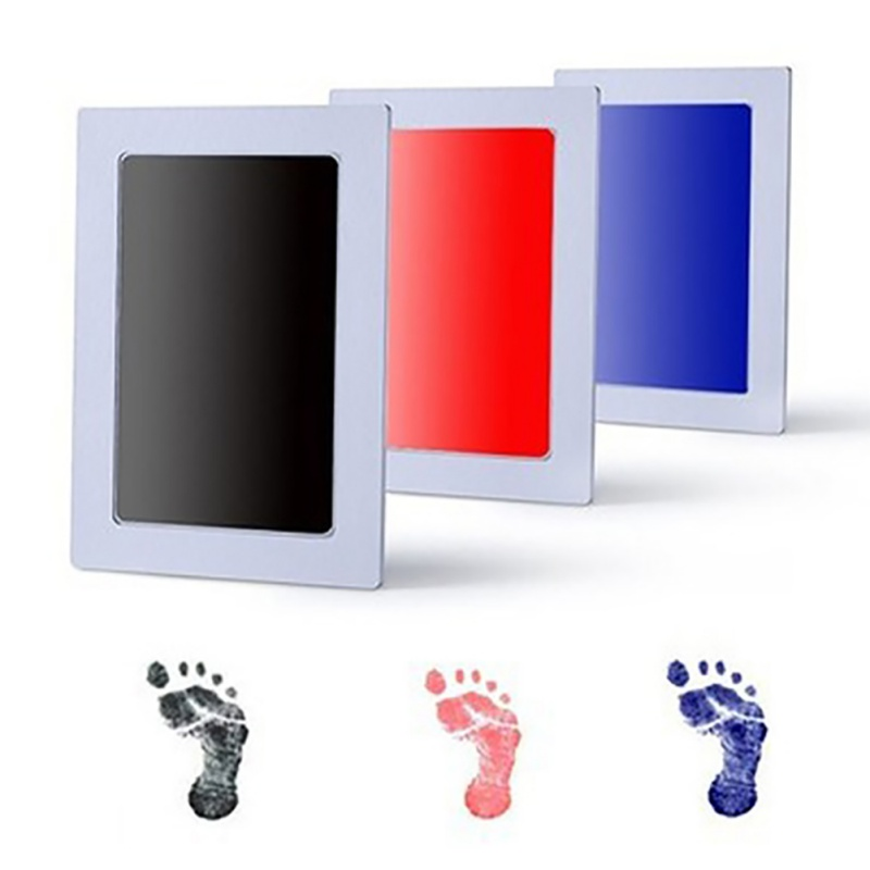 Baby Non-Toxic Baby Handprint Footprint Imprint Kit Kids Souvenirs Casting Newborn Footprint Ink Pad Infant Clay Toy Gifts