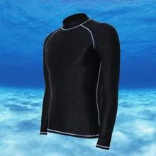 men dive sharkskin stinger suit long sleeve rash sun guard swim surf shirt swimwear UV UPF50+ windsurf bathing wetsuit недорого