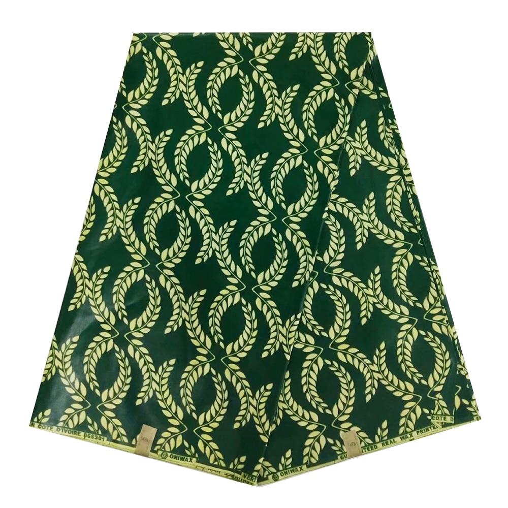 Green Nigerian Super Java Veritable Block Print African Wax Fabric Cotton, Ankara JAVA Wax Print Fabric For Sewing Patchwork