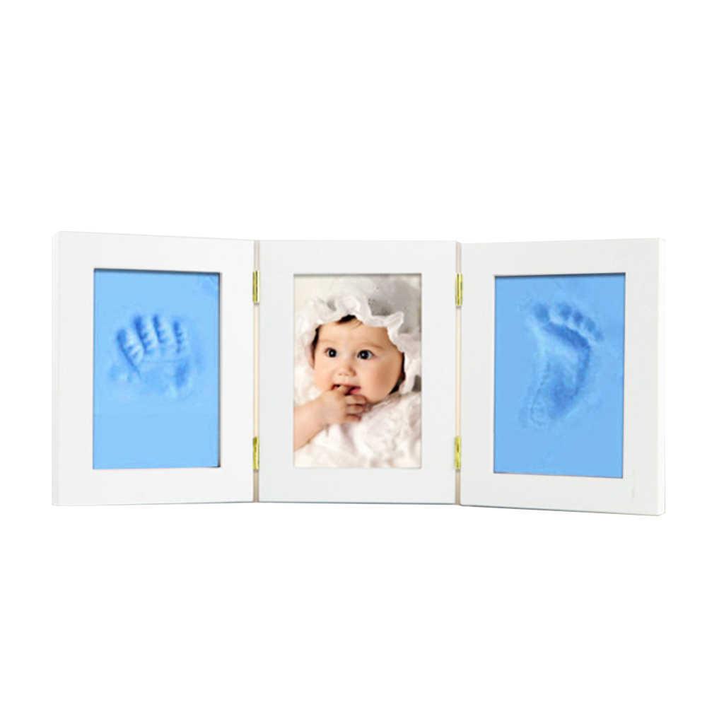 المواليد الجدد إطار صور الطفل قوالب بصمات البصمة 3D DIY لينة كلاي Inkpad المحددة الاطفال هدايا تذكارية رائعة الصب المنزل الديكور