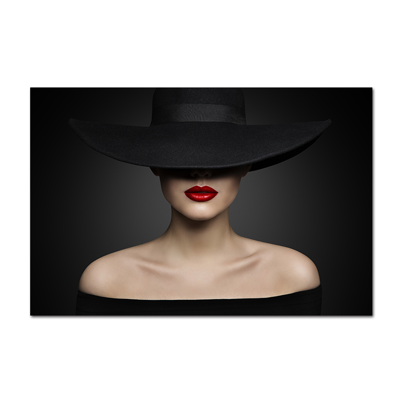 2019 Vogue Pictures Print Women Red Lips Paintings Black Skirt Rose Posters  And Prints Wall Art Canvas Cuadro Makeup Room Decor From Huojuhua, $39.26
