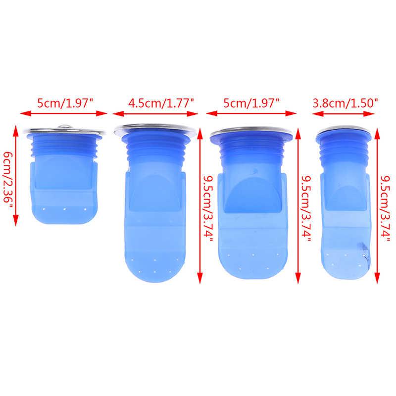 ラウンドステンレス鋼カバーシリコーンキッチンストレーナー浴室パイプ下水道水切り抗臭害虫駆除床ドレンアクセサリー