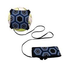 Футбольный тренер Футбол кик бросок Solo тренировка помощь контроль навыки регулируемое оборудование мяч сумки подарок аксессуары