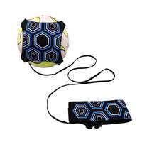 Entrenador de fútbol Kick Throw Solo practica la ayuda de entrenamiento Control habilidades equipo ajustable bolsas de bola accesorios de regalo