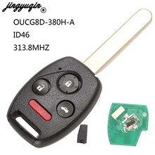 Автомобильный Дистанционный ключ jingyuqin 313,8 МГц для Honda Accord 2003 2004 2005 2006 2007 с чипом ID46