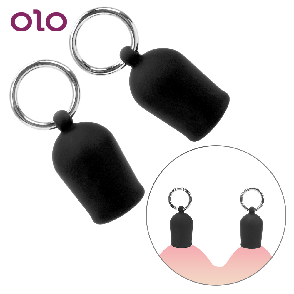OLO Nipple Sucker Nipple Stimulator Milk Sucking Device Breast Massager Dual Suction Cup Female Breast Enlarger Pump Silicone