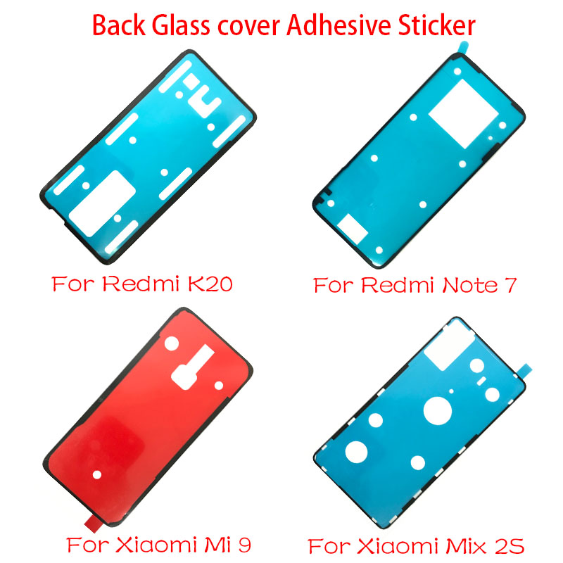 10pcs/lot New Back <font><b>Battery</b></font> <font><b>Cover</b></font> Door sticker Adhesive glue tape For <font><b>Xiaomi</b></font> <font><b>Mi</b></font> 9 9T Mix 2S / Redmi Note 7 <font><b>8</b></font> K20 Pro Replacement image