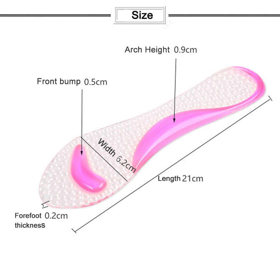 Kaymaz Kadın Jel 3/4 uzunluk Arch Destek kaymaz Masaj Metatarsal Yastık için Ortopedik Tabanlık Yüksek Topuklu ayakkabı Pedi
