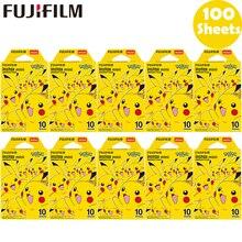 10 100 levhalar Fujifilm Instax Mini Pokemon anında 10 Film için Fuji 11 7s 8 9 25 50s 70 90 & SP 1 yazıcı