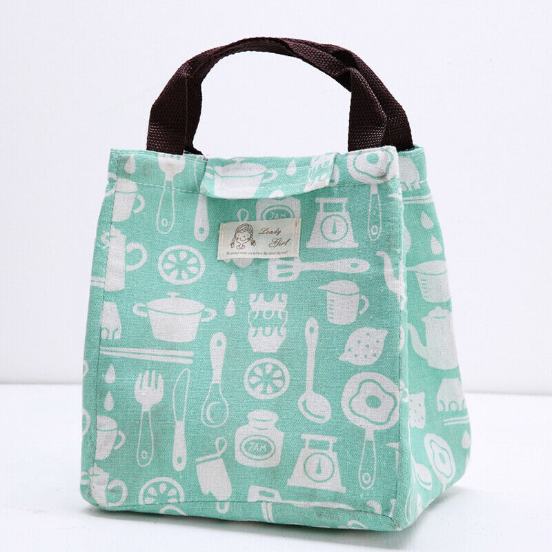 Large Insulated Lunch Bag Cooler Picnic Bag Travel Food Box Women Tote Carry Bags /BY