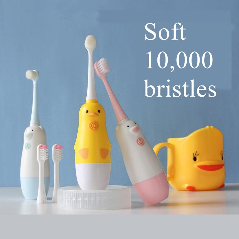 Children Electric Toothbrush Waterproof Sonic Vibrator Teeth Brush For Kids Cartoon Teeth Whitening Battery Powered