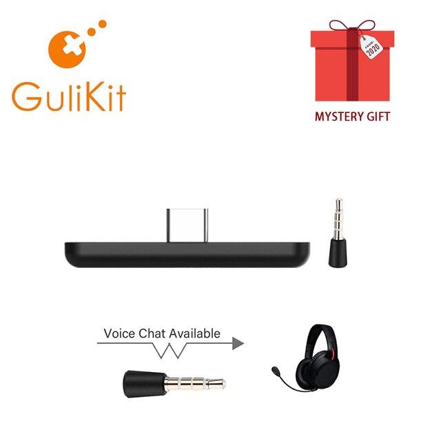 Gulikit ns07 rota ar pro bluetooth tipo de áudio c transmissor suporta chat de voz no jogo para switch & switch lite ps4 ps5 pc
