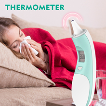 Thermometer Baby Adult Medical Digital LCD Ear Infrared IR Thermometer 1-second Accurate Reading Non-contact Measurement