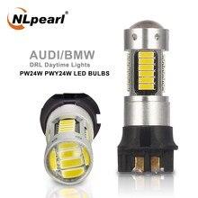 Nlpearl 2x lâmpada de sinal pwy24w lâmpadas led 30smd pw24w led canbus para audi bmw vw volvo mercedes-benz carro drl turn signal luz 12v