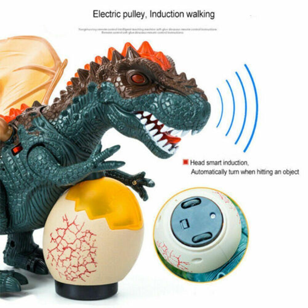 Electric Intelligent Acoustic-optical Induction Animal Model Toy For Children Overlord Dinosaur